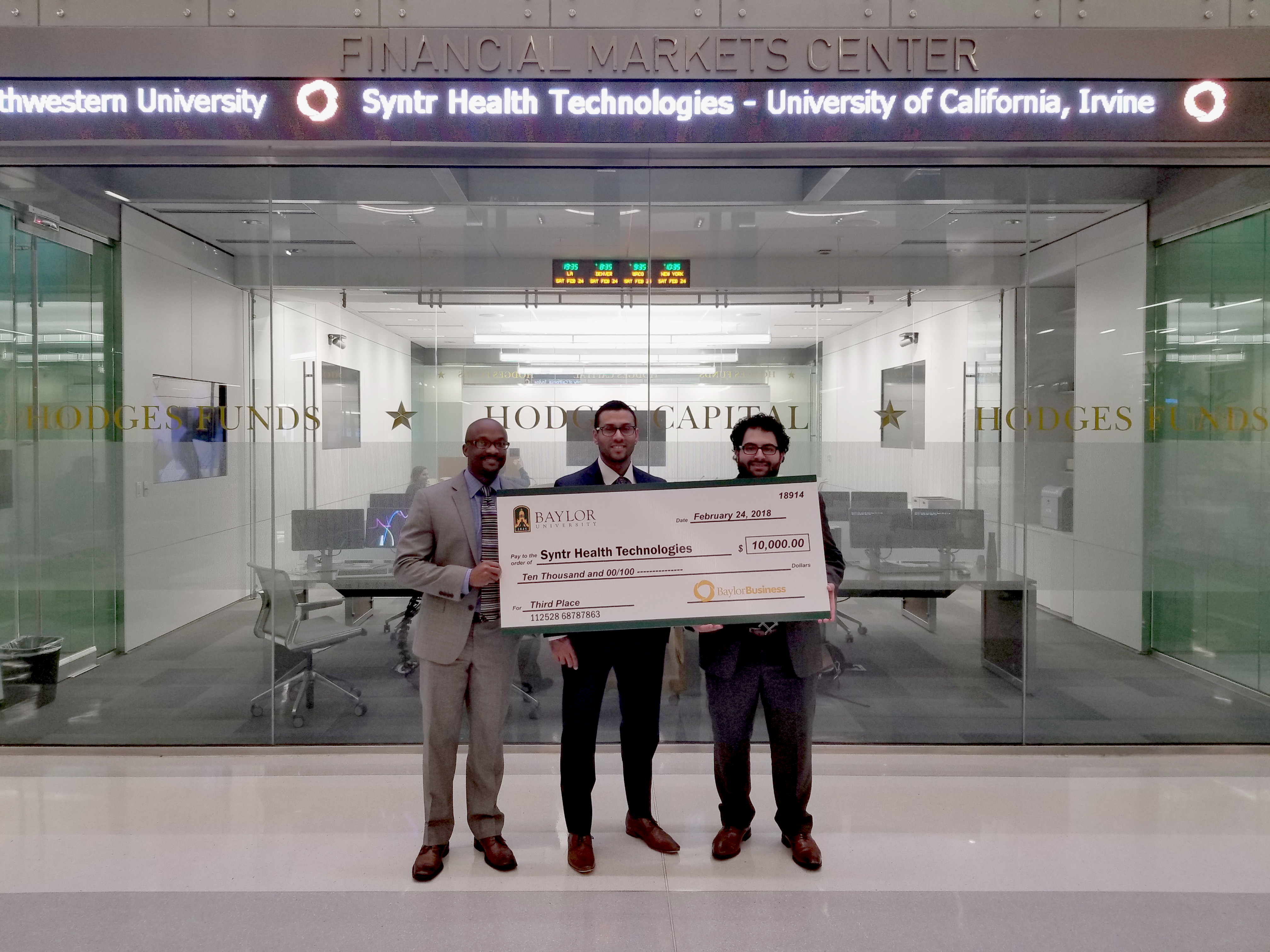 UCI Startup Syntr Ranks in Top 10 at Baylor University's New Venture Competition