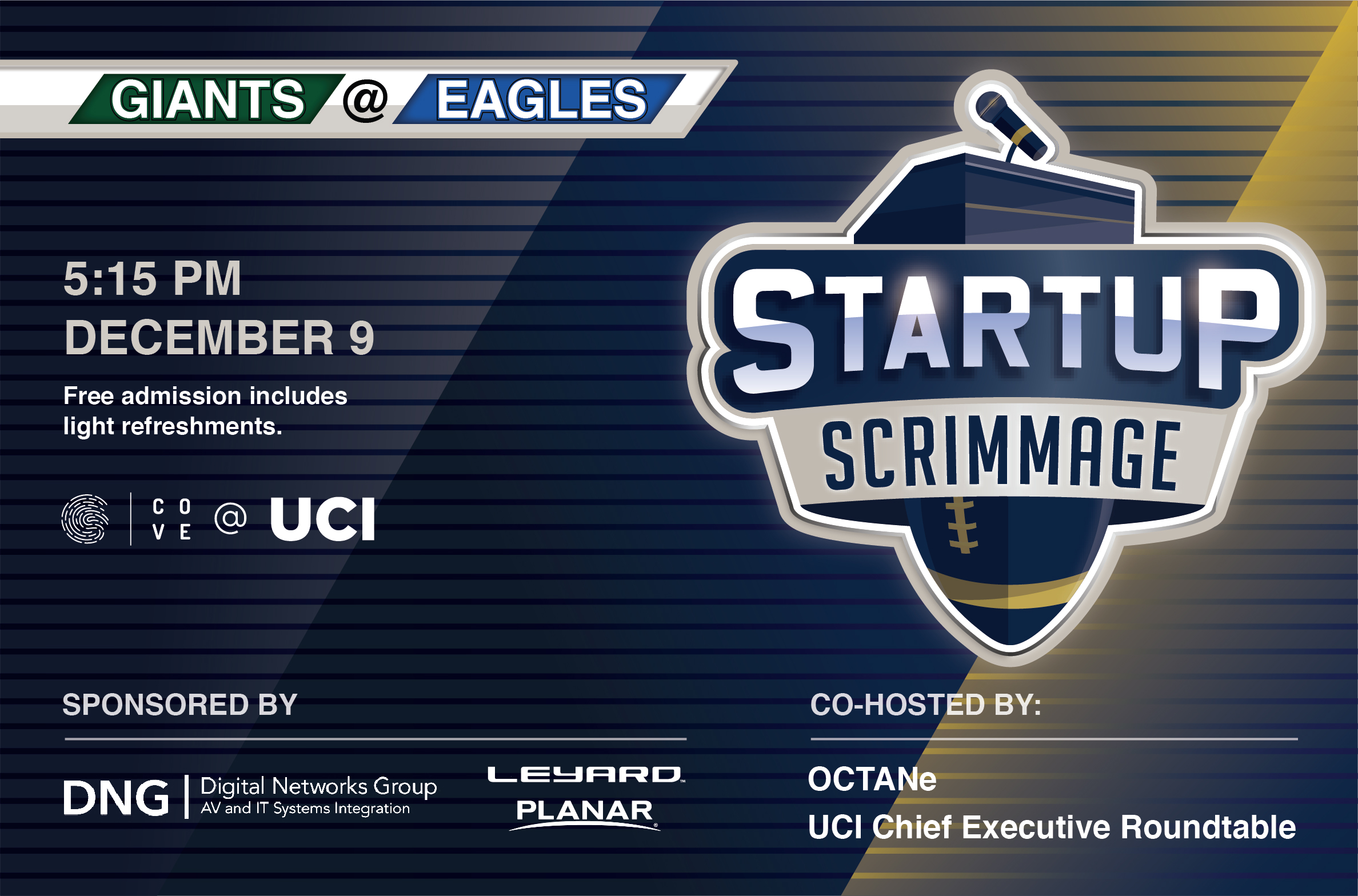 Startup Scrimmage: Giants @ Eagles