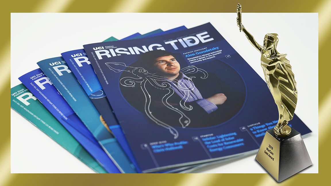 UCI Beall Applied Innovation's Rising Tide is now Award-Winning Publication