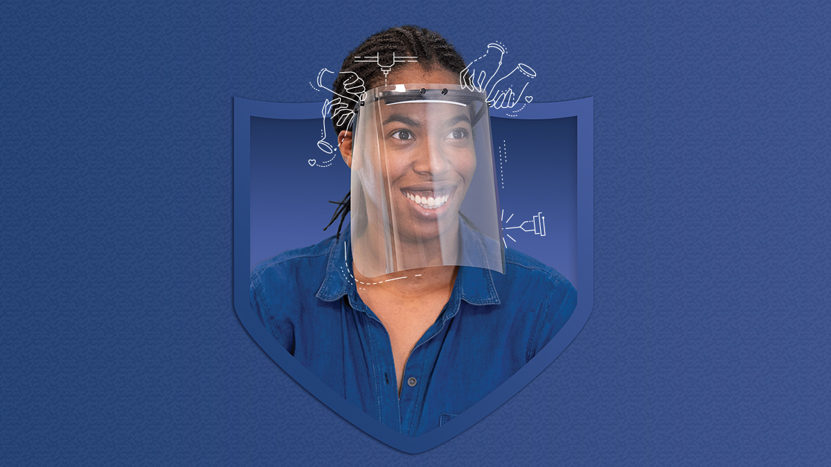 UCI Team Designs and Produces 20,000 Face Shields for UCI Medical Center
