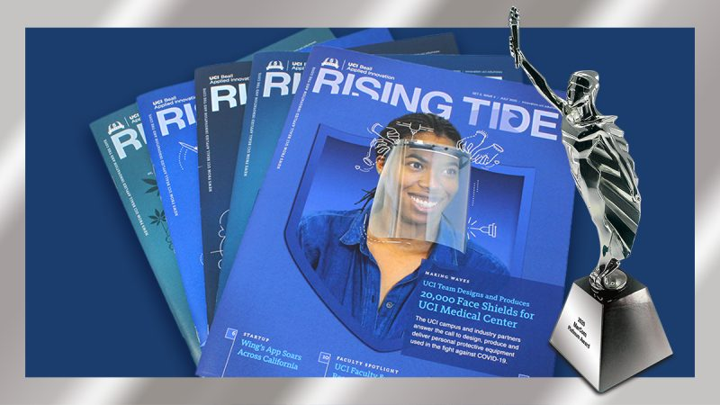 UCI Beall Applied Innovation's Rising Tide Magazine Receives the MarCom Platinum Award