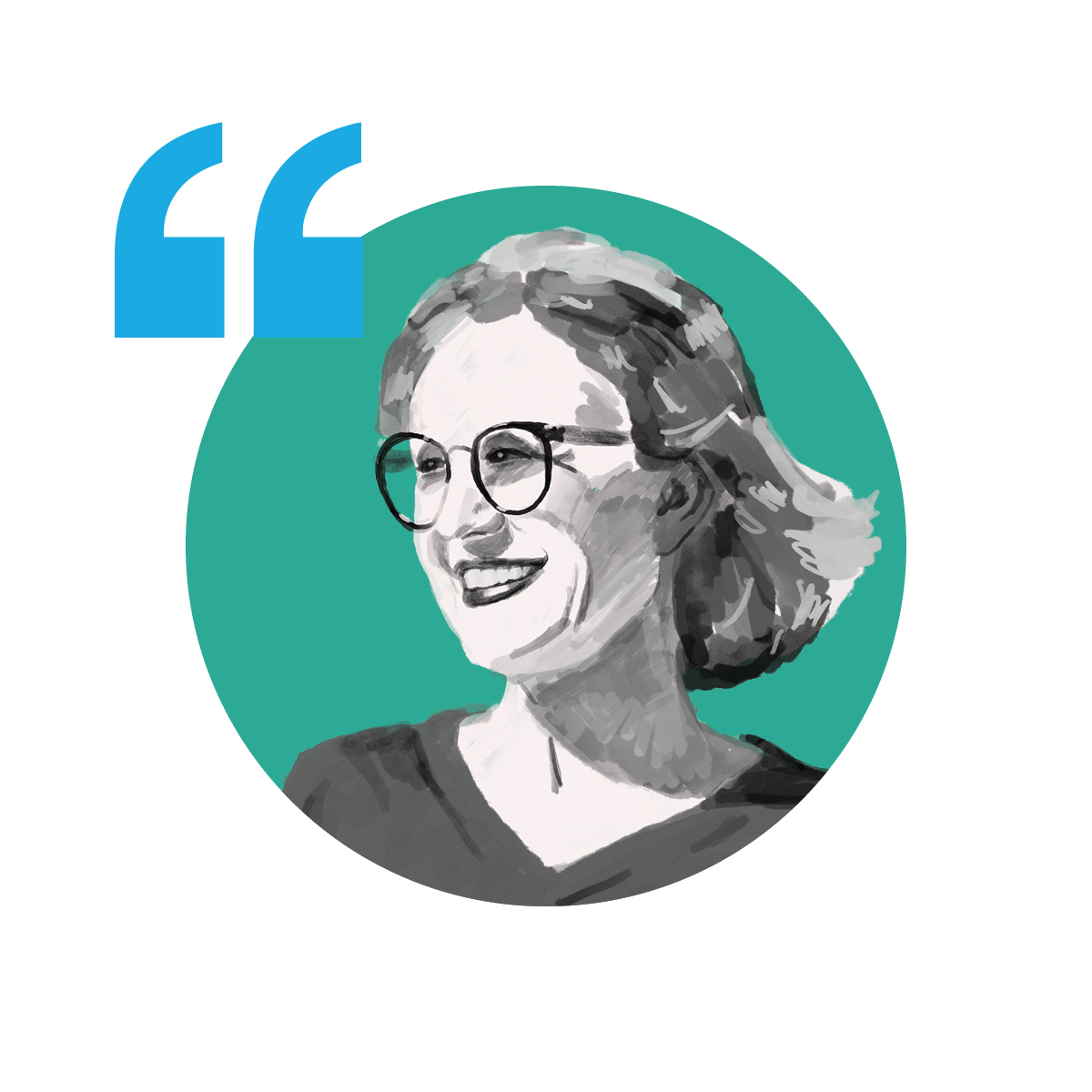 Illustration of Amy von Kaenel, Founder & CEO of VolunteerCrowd
