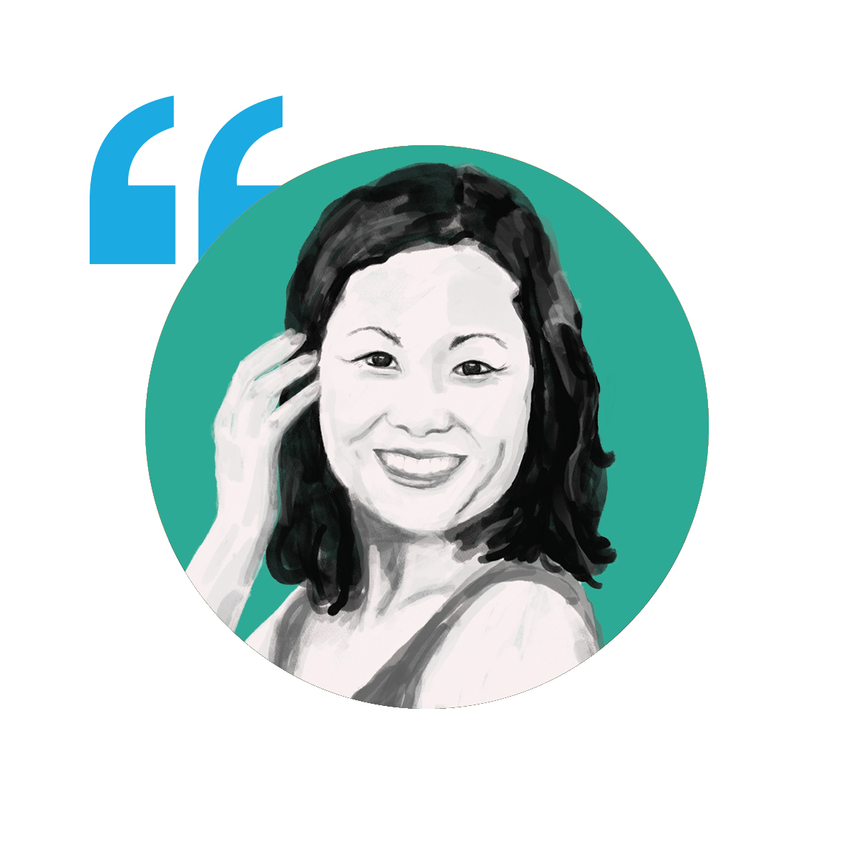 Illustration of Jenny Woo, Founder & CEO of Mind Brain Parenting