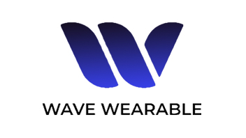 Wave Wearable Logo. In Blue