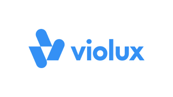 Violux logo. Three shapes form a V